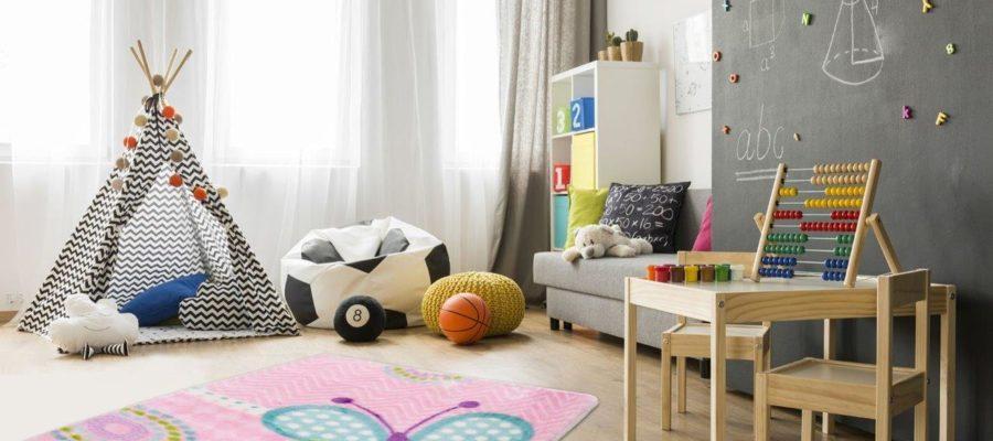 Przegląd dywanowych motywów do pokoju dziecka